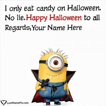 Funny Minion Halloween Wishes With Name