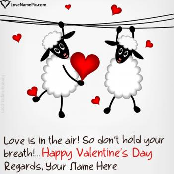 Write name on Funny Valentines Day Quotes Messages love images
