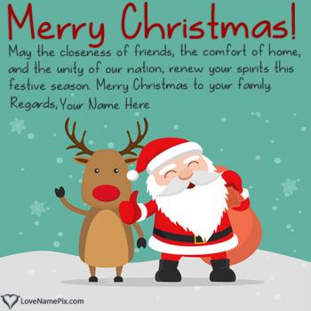 Write name on Generator For Christmas Wishes Sayings images