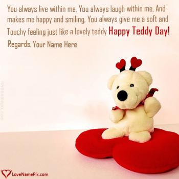 Generator For Teddy Day Wishes Name Picture