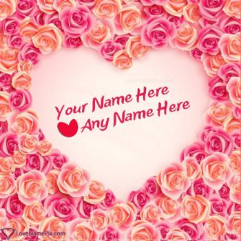 Write name on Generator Of Couple Name In Heart love images