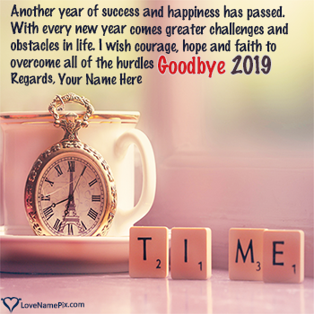 Goodbye 2019 Images Quotes With Name