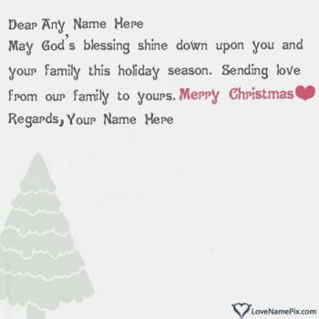 Handmade Christmas Greeting Cards With Name
