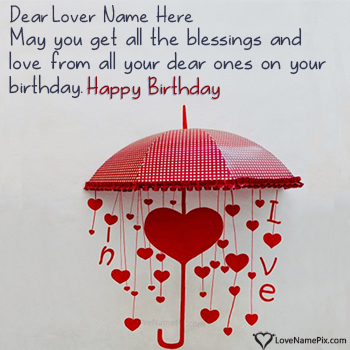 Happy Birthday Messages For Lover With Name Birthday Cards