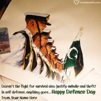 Happy Defence Day Profile Picture With Name