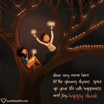 Write name on Happy Diwali Wishes Messages images