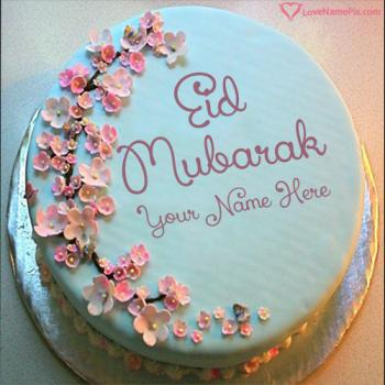 Happy Eid Greetings Cake With Name