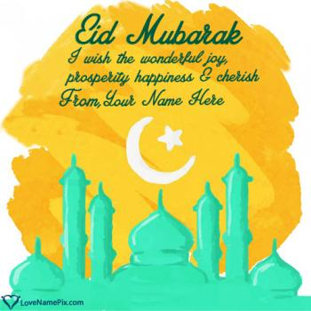 Happy Eid Mubarak Wishes Quotes Images With Name