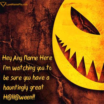Write name on Happy Halloween Quotes Messages images