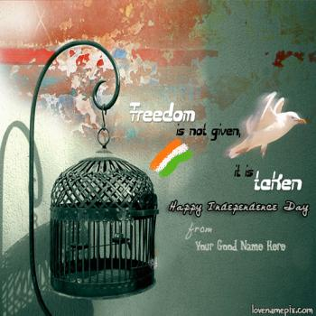 Write name on Happy Independence Day India images
