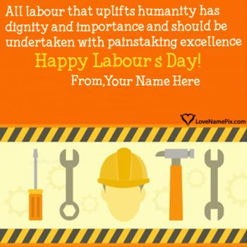 Write name on Happy Labour Day Quotes Inspirational images