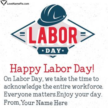 Happy Labour Day Wishes Name Picture