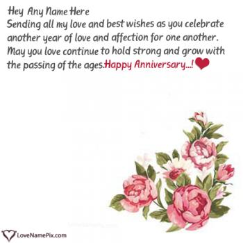 Happy Marriage Anniversary Cards Images With Name