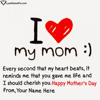 Write name on Happy Mothers Day Messages images