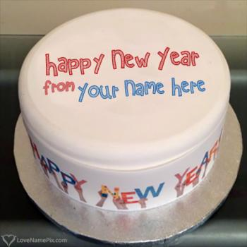 Write name on Happy New Year 2018 Cakes pictures