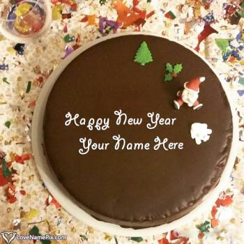 Write name on Happy New Year Cake Designs pictures
