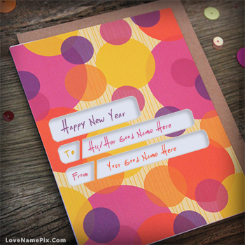 Happy New Year Wishes Card Name Picture