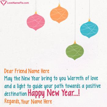 Write name on Happy New Year Wishes For Best Friend images