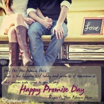 Write name on Happy Promise Day Wishes Quotes love images