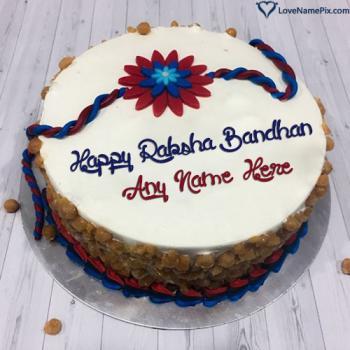 Happy Raksha Bandhan Cake Images With Name