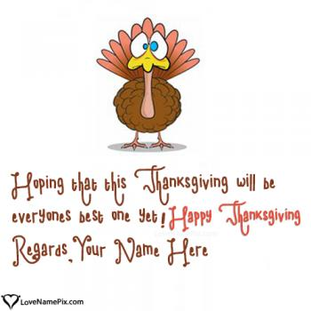 Happy Thanksgiving Wishes For Everyone With Name