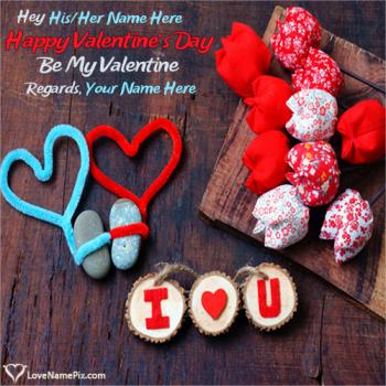 Happy Valentines Day Cute Wishes Name Picture
