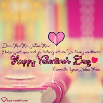 Write name on Happy Valentines Day Greetings Messages love images