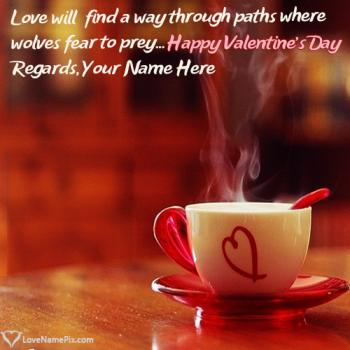 Write name on Happy Valentines Day Love Quotes love images