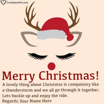 HD Merry Christmas Wishes Images Editor Name Picture