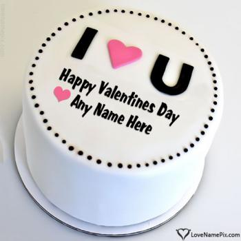 I Love You Best Valentine Cake Maker With Name