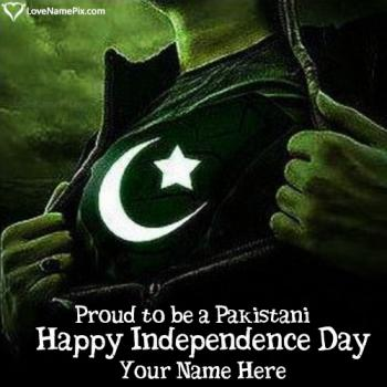 Write name on Images Of Proud Pakistani Independence Day images