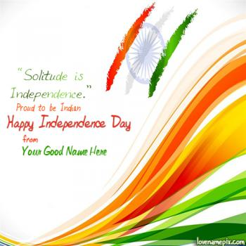 Write name on Independence Day Wishes images