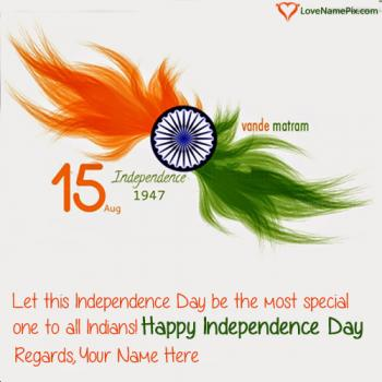 Indian Independence Quotes With Flag With Name