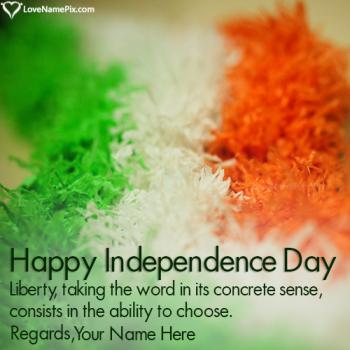 Indian Independene Day Photo Editor Online With Name