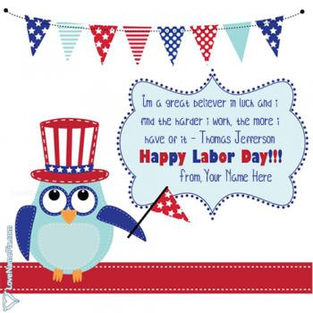 Labor Day Greeting Card With Name
