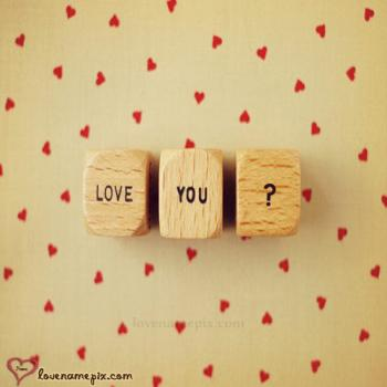 Love You Blocks With Name