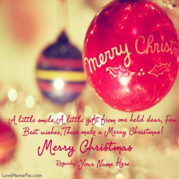 Merry Christmas Greetings Quotes Name Picture