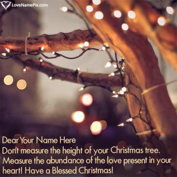 Merry Christmas Wishes For Cards With Name