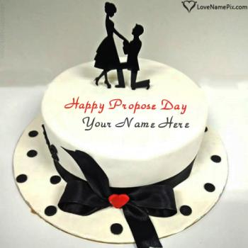 Most Beautiful Happy Propose Day Cake With Name