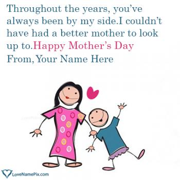 Write name on Mother Day Wishes From Son images