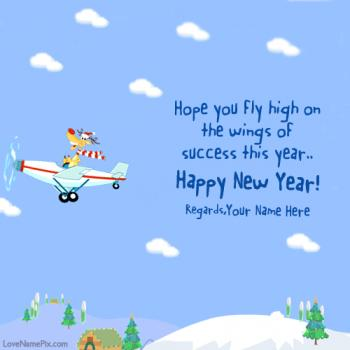 New Year Best Wishes Cards Name Picture