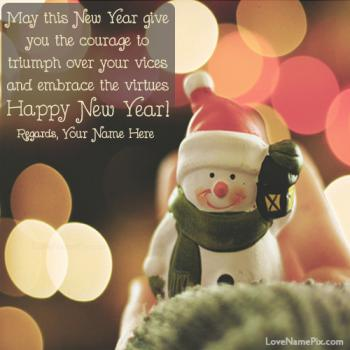 New Year Greetings Wallpapers Name Picture