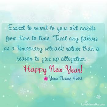 Write name on New Year Resolution Quotes images