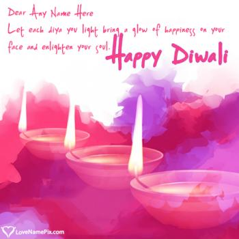 Online Diwali Greeting Card Maker With Name