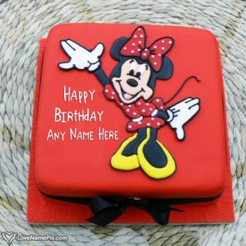 Online Editor For Cartoon Birthday Cake With Name