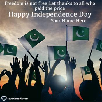 Write name on Pakistan Independence Day Celebrations images