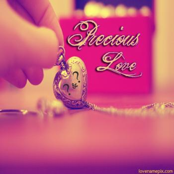 Precious Heart Letters Name Alphabet Dp