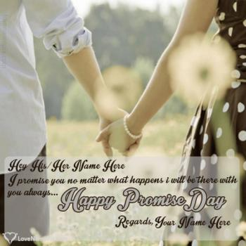 Write name on Promise Day Messages For Couple love images