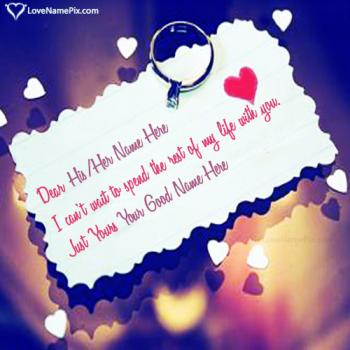 Write name on Proposal Images With Quotes love images