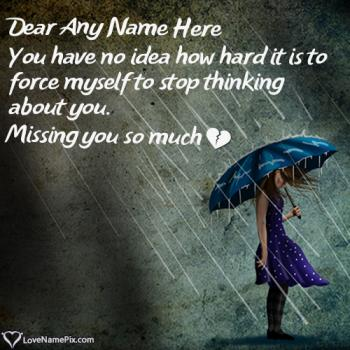 Rain Miss U Images For Boyfriend With Name